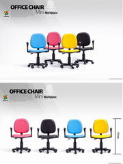 ZCWO 1/6 Mini Workplace  Office Chair Set