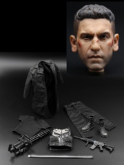 Toys Works TW003 1/6 MadSkull Battle damaged Head Sculpt + Costume Set