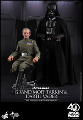 Hot Toys MMS434 Star Wars Episode IV A New Hope 1/6th scale Grand Moff Tarkin Collectible Figure & Darth Vader Collectible Set