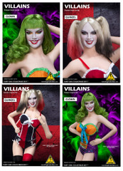 Flirty Girl Villains Female 1/6 Scale Head Sculpt - 2 Models