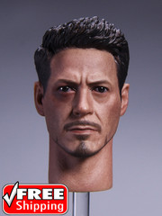 Custom 1/6 Scale Tony Battle Damaged MK46 Head sculpt