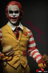 FIRE A015 1/6 Burger Uncle Fast Food Clown Double Head sculpt Action Figure