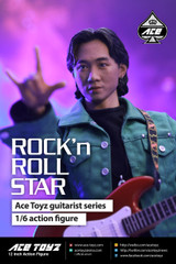 Ace Toyz 1/6 Action Figure Guitarist Series : Rock & Roll Star Action Figure