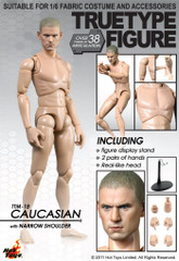 Hot Toys TTM18  1/6 scale True Type Nude Figure-Caucasian Narrow Shoulder