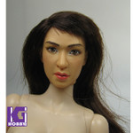 Custom made 1/6 Repaint Female/Girl Action Figure Head Sculpt-BROWN Hair