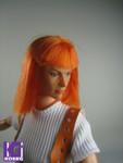 Custom Made 1/6 girl figure set -Milla Jovovich as Leeloo in The Fifth Element