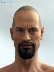 Loading Toys 1/6 Figure Head Sculpt-Dwayne Johnson Halbet+Gas Tank Set