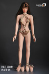 Phicen 1/6 Female Seamless Small Breast Figure Body-Pale Skin Tone/Brown Hair