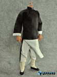 ZY TOYS 1/6 Chinese Kung Fu Costume Outfits: Black Long Robe with Collar