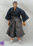 1/6 Japanese Samurai Outfits+Sandle+Sculpture MUSASHI'S WAFUKU Set