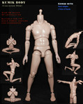 KUMIK 1/6 Scale Caucasian Slim Narrow Shoulder Action Figure Body