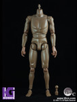 "Toys City TTL 1/6 Scale 12"" Male Nude figure Body T3.0 Dark/Black skin tone"