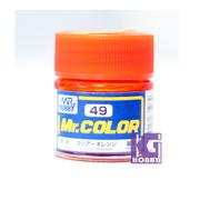 Mr Hobby Mr. Color GUNZE MODEL COLOR PAINT 10ml 49 GLOSS Clear Orange