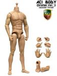 "ACI 1/6 Nude Muscular Action figure Body  Christian ""Medium Built Bodies""   Ver.2 – Caucasian"
