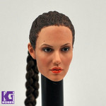 Custom Angelina Jolie Tomb Raider Ponytail 1/6 Action Figure Head Sculpt