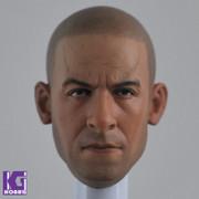 Eleven 1/6 Action Figure Head Sculpt-Custom  Vin Diesel