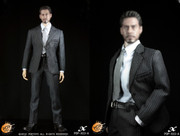 POPTOYS 1/6 X03 Men's Suit Set A (Black Striped)