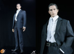 POPTOYS 1/6 X03 Men's Suit Set B (Blue Striped)