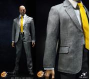POPTOYS 1/6 X03 Men's Suit Set C (Grey Striped)