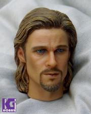 Goahead 1/6 Brad Pitt Action Figure Head Sculpt-Long Hair Version