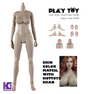 Play Toy 1/6 Nude Girl Female Action Figure Body-Medium Breast Version
