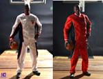 Warm Up Track Suit for Enterbay 1/6 Michael Jordan action figure