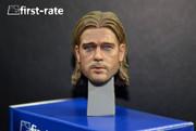 First Rate 1/6 Brad Pitt Action Figure Head Sculpt-world war z