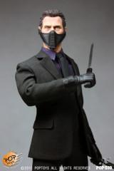 POPTOYS X09  1/6 Ducard Liam Neeson figure Head Scupt+Master Ninja Suit