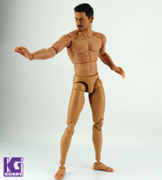1/6 Scale Custom Muscular Nude action figure body