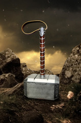 Lager Toys 1:1 Thor Hammer Props Replica with display stand (optional)