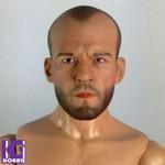 Custom 1/6 Jason Statham Action Figure Head Sculpt