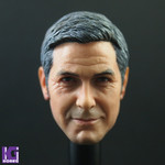 Custom 1/6 George Clooney Action Figure Head Sculpt