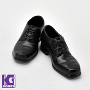 1/6 Scale Men's Black Heel Shoes