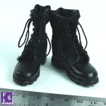1/6 scale Leather Military Boot -Black