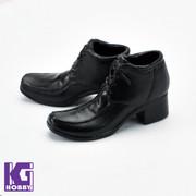 1/6 Scale Men's Black Heel Boot Shoes