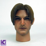 Eleven 1/6 Action Figure Head Sculpt-Resident Evil 4 Leon S Kennedy