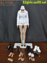 Kumik 1/6 S2 Girl girl generations SNSD Costume outfits Set +Female Body ver 2.0