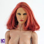 1/6 Custom CIAN Action Figure Head Sculpt- Scarlett Johansson Black Widow Red Short hair