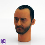 Custom Jean Reno 1/6 scale head sculpt