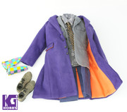 CGL TOYS 1/6 Joker action figure Full Costume set-Jacket/Suit/Pants/Shoes  + Purple Hands