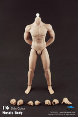 COOMODEL 1/6 Pack Plastic Male Muscle Nude Action Figure Body-Fully Seamless