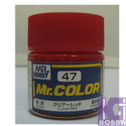 Mr Hobby Mr. Color GUNZE MODEL COLOR PAINT 10ml 47 GLOS CLEAR RED