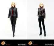 POPTOYS 1/6 F11 Modern women leather dress suits