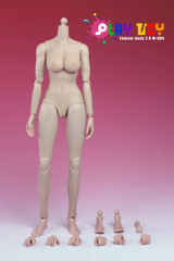 Play Toy 1/6 Nude Girl Female Action Figure Body-Pale Skin Medium Breast Version 4.0