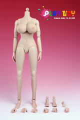 Play Toy 1/6 Nude Girl Female Action Figure Body-Pale Skin Extra Large Breast Version 4.0