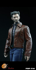 POP TOYS F14 1/6 scale Wolverine Retro Leather suit