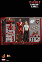 HOT TOYS MMS311  IRON MAN 3 PEPPER POTTS & MARK IX 1/6TH SCALE COLLECTIBLE FIGURES SET