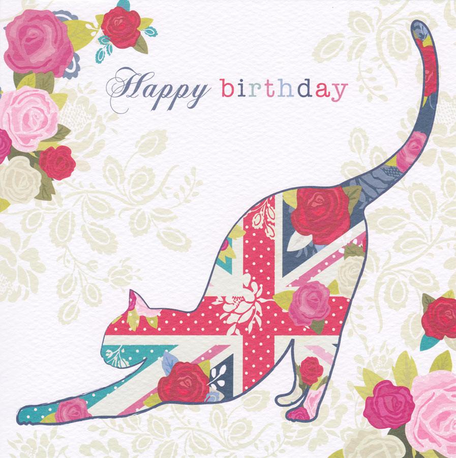 Cat Birthday Card Hope And Glory CardSpark – Cat Birthday Card