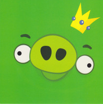 Angry Birds - Green Pig Greeting Card