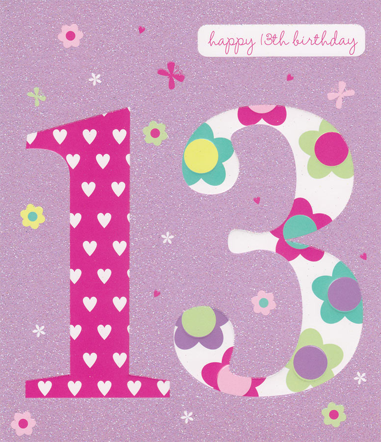 Carlton cards 13th birthday card raised lettering and glitter carlton cards 13th birthday card loading zoom bookmarktalkfo Image collections